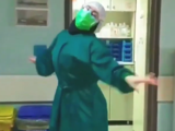 iranian Doctor dancing patients shows happiness