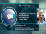 Managing Thoracic Patients | Dr. Swanson